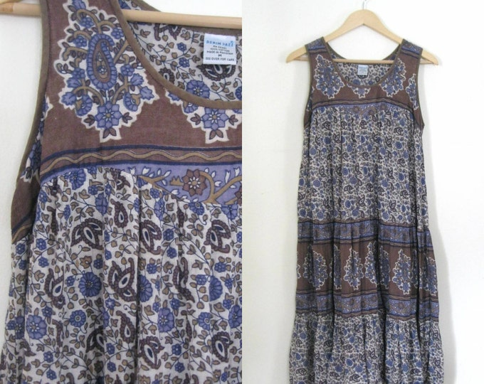 vintage 80s floral sundress / Hippie Boho Festival dress