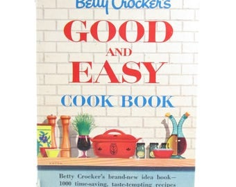 Vintage Cookbook Betty Crocker Good and Easy Cook Book 1954 Mid Century Atomic 1950s