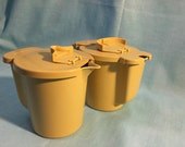 Tupperware Harvest Gold Sugar & Creamer Flip Top Pitcher Set