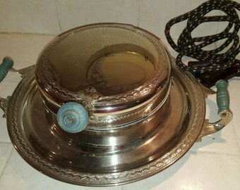 Vintage Fancy Chic Waffle Iron Maker Manning Bowman Means Best