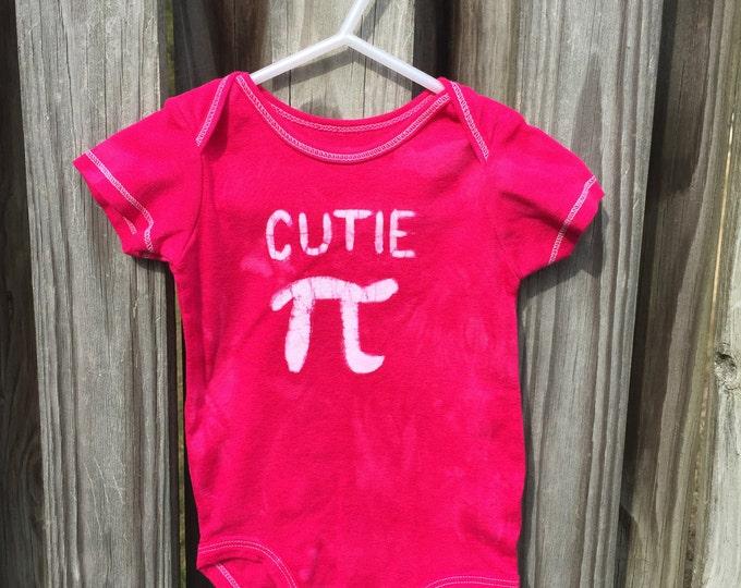Pi Day Baby Bodysuit, Pink Pi Day Baby Shirt, Fuchsia Cutie Pi Bodysuit, Nerdy Baby Bodysuit, Math Baby Gift, Engineering Baby (12 months)