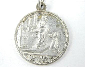 RARE 1800s Saint Martial of Limoges - Saint Valerie Catholic Medal - PENIN PONCET 18th Century Religious Charm - Martyr Medallion - Z50