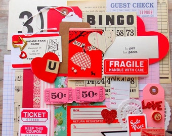 Pink 50 Cent Carnival Tickets / 20 Tickets / Carnival Tickets / Journal Supply / Scrapbook Ephemera