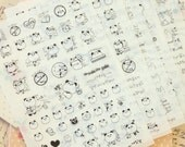 Lovely Panda Bear & Friends cartoon stickers set