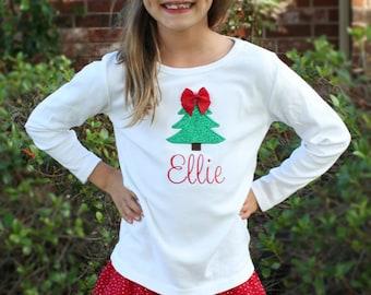 Girl christmas shirt | Etsy