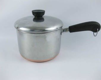 Revere Ware Copper Clad Stainless Steel Sauce Pan Pot  2 Quart
