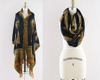 beaded pashmina scarf / oversized