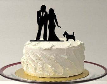 MADE In USA, with Dog Lesbian Wedding Cake Topper, Same Sex Cake Topper, Gay Wedding Cake Topper Gay silhouette Homosexual Wedding Topper