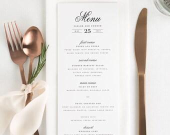Taylor Dinner Menus - Deposit