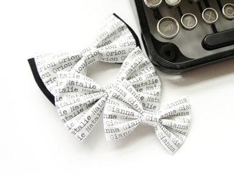 Name Headband - Personalized Hair Bow - Custom Name Headband - Name Bow - Personalized Gift - Baby Shower Gift - Newborn Gift - Name Bow Tie
