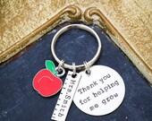 Personalized Teacher Appreciation Gift • Teacher Keychain • Teacher Quote Keychain • End of Year Teacher Gift Ideas • Teacher Thank You Gift