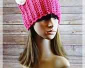 READY TO SHIP Crochet Pink Cat Hat - Cat Ear Hat - PussyHat project  - Crochet Kawaii animal costume - Handmade by Angel Chest Boutique -