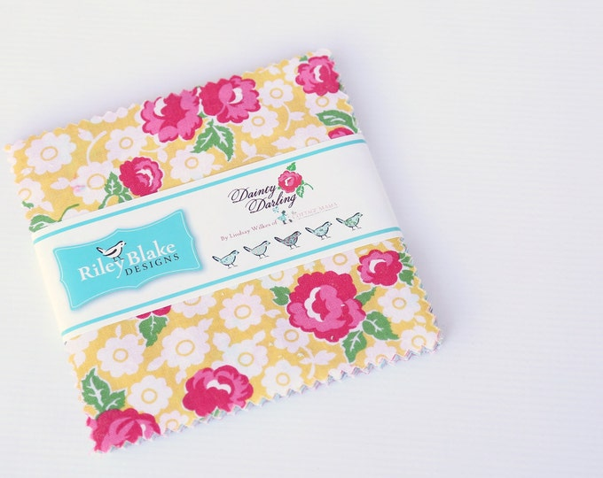 "5"" Stacker - Dainty Darling Fabric by Lindsay Wilkes for Riley Blake Designs"