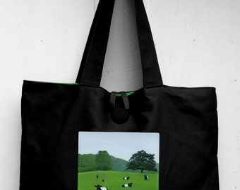 Belted Galloway Tote Bag by SBMathieu