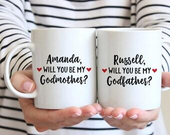 Will You Be My Godparents Gift Godparents Proposal Godparent Gift Ideas Gifts for Godparents Asking Godparents Mugs Godmother Coffee Mug