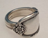 """Spoon Ring """"Rememberance"""" Size 6 to 12 Choose Your Size Vintage Silverplate Silverware Jewelry"""