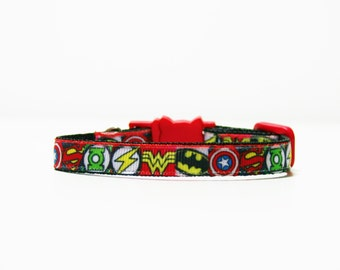 "Breakaway Superhero Marvel Cat Kitten Safety 3/8"" Collar"