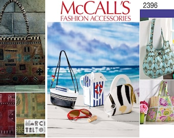 SALE! Handbags Pattern McCalls 6761 Beach Fish Boat Cabana Wearable Art Tote Hand Bags Purse