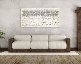 Song Lyrics Canvas First Dance Gift On