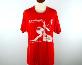 Lake Powell T-Shirt, San Juan Marina on the Shore of Lake Powell, Screen Stars Label