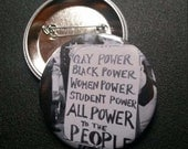 Power to the People pin buttons pins badges pinback button anti trump womens march famous feminist sign