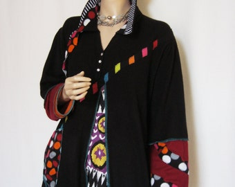 1X to 2X  Fun, Colorful Tunic