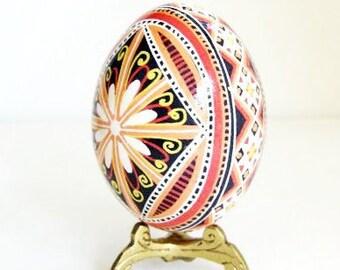 Mother in law gift idea hollow egg symbolizes chris pysanka batik egg on chicken egg shell ukrainian easter egg hand painted egg ornament negle Image collections