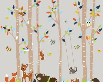 Birch Tree Decal Kids Wall Decal Nursery Wall Decal