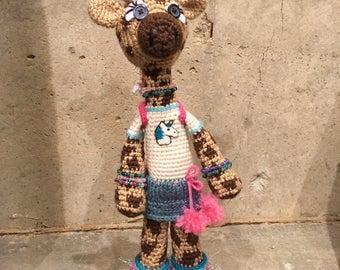 Amigurumi Crochet Giraffe, Raver Giraffe Made To Order