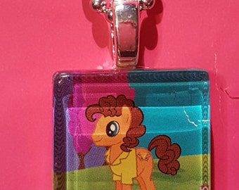 My Little Pony Cheese Sandwich Glass tile necklace
