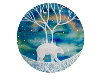 Polar Bear Art // Limited Edition Print // The Winter Journey