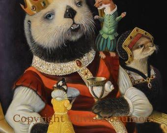 King Otto Bristleton III - Original Oil Painting by Olivia Beaumont