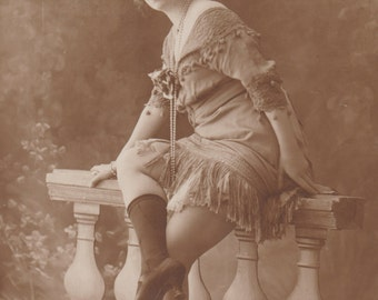 Costumed Artiste by Jean Agelou, Vintage French Postcard, circa 1910s