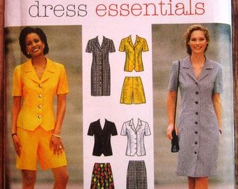 Misses Dress or Top, Skirt, Pants and Shorts Sizes 8 10 12 Simplicity Pattern 7524 UNCUT
