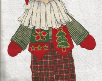 Christmas Fabric Panel Mountain Woods Santa Cranston Print Works 100% Cotton NOS Christmas Decor Christmas Toy Stuffed Santa Doll