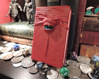 Mythical Beast Book-Lined (Red leather with Green eye)