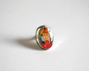 Frida Kahlo Adjustable Ring
