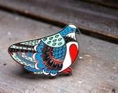 Bleeding Heart Pigeon Enamel Pin