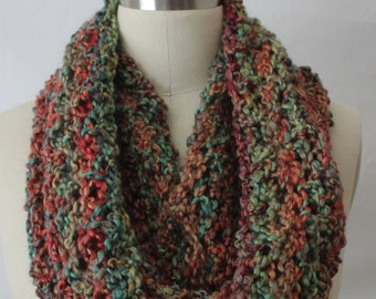 Extra large infinity scarf, snood, cowl in autumn colors