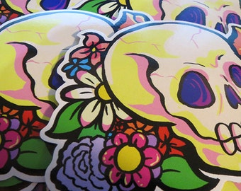 Flower Skull Sticker