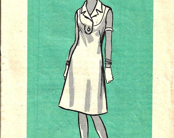 1960's Mail Order Sewing Pattern Women's Dress Pattern 9423 Size 12 Bust 34