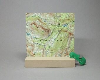 Grand Teton National Park Wyoming Map on Metal for Desk or Shelf Gift for Hiker Climber Men or Women