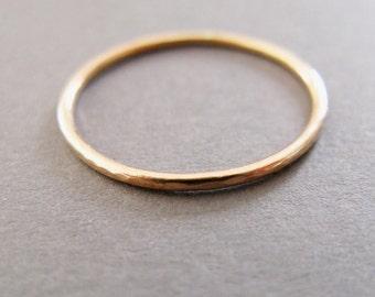 1mm 9ct Rose Gold Slim Ring, minimalist stacking ring