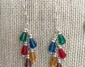 Christmas Lights Dangle Earrings
