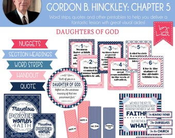Relief Society Lesson Helps, Gordon B. Hinckley Lesson #5, RS Lesson Aides - Teachings of the Presidents of the Church, PRINTABLE Download