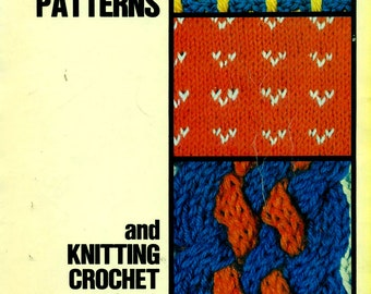mon tricot KNITTING DICTIONARY 1030 Stitches & Patterns Includes Crochet Section, Tunisian, Flower Loom, Hairpin Fork Patterns, too