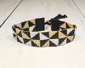 Seed Bead Bracelet - Chic Bracelet - Boho Bridal Bracelet - Womens Bracelet - Gifts For Her - Gifts Under 25 - Beaded Bracelet
