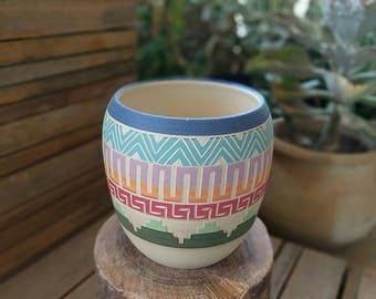 Ceramic planter indoor planter pot succulent planter pottery vase colorful decor plants planter