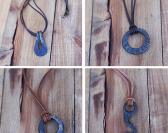 Blacksmith's Necklace Bundle. Mix and Match Hand-forged Gift Set