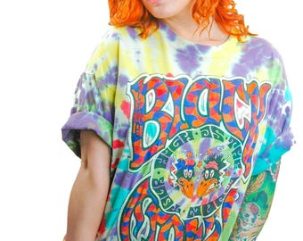 Vintage Black Crowes Shirt 90s Tye Dye Southern Rock Grateful Dead Hippie Boho Rocker Rolling Stones Concert shirt Band tee XL